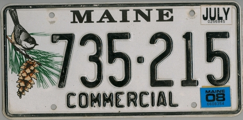 MAINE Commercial - Nummernschild ## 735215 =