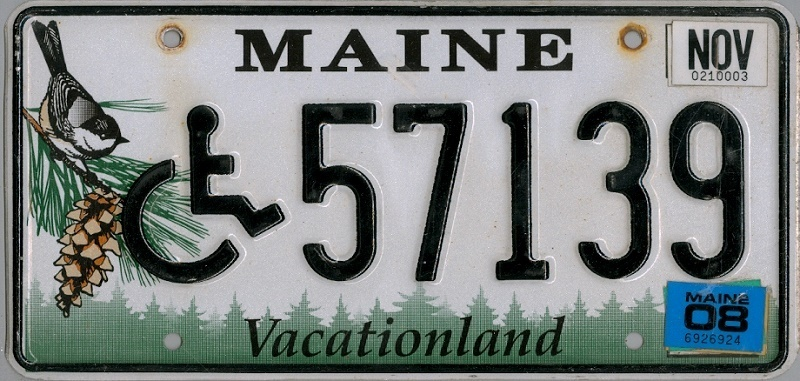 MAINE Handicapped  Special - Nummernschild # 57139 =