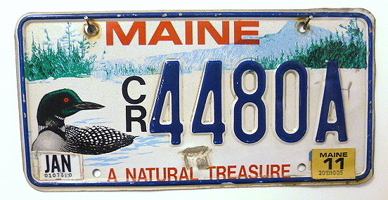 MAINE a Natural Treasure - Nummernschild # CR4480A =