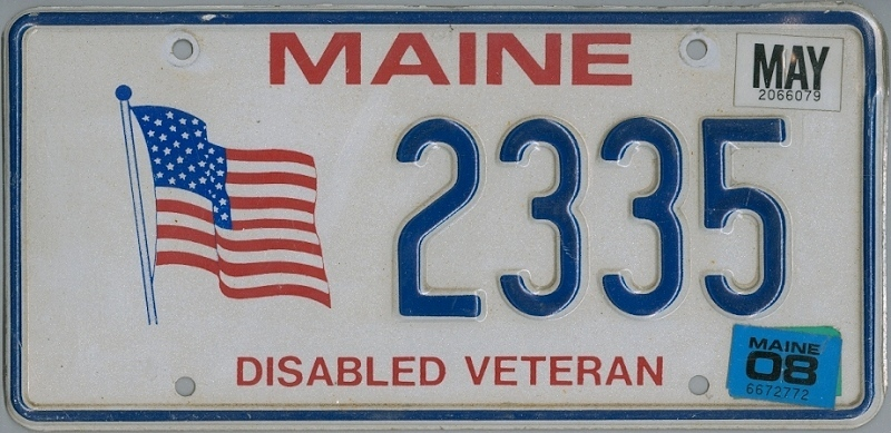 MAINE Veteran - Nummernschild # 2335 =