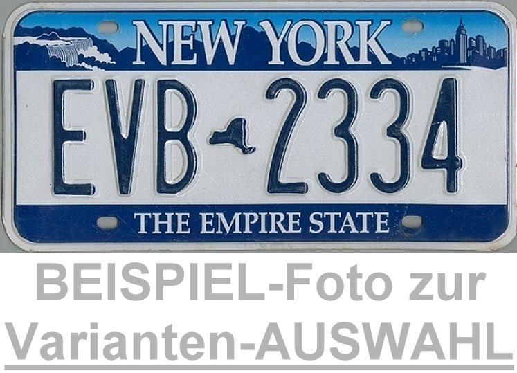 NEW YORK The Empire State - Nummernschild # Schilder Auswahl