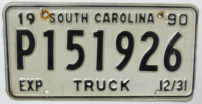 SOUTH CAROLINA Truck - Nummernschild # P151926 ...