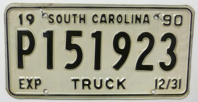 SOUTH CAROLINA Truck - Nummernschild # P151923 ...