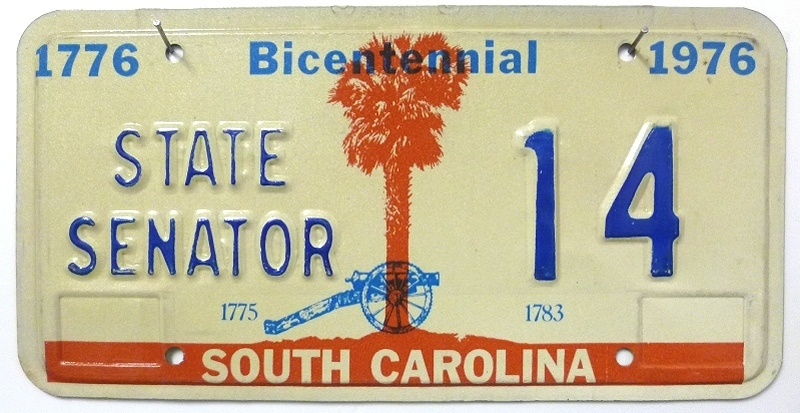 SOUTH CAROLINA State Senator - Nummernschild # 14 ...