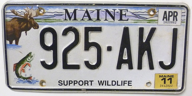 MAINE Support Wildlife - Nummernschild # 925AKJ =