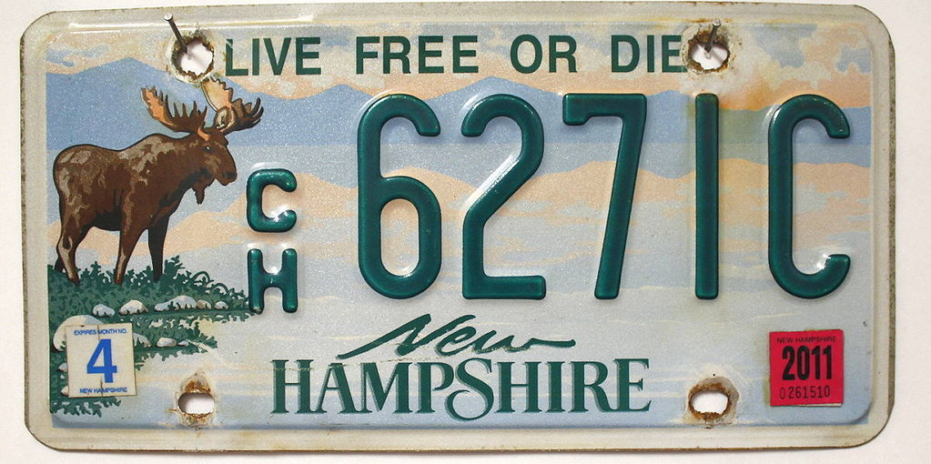 NEW HAMPSHIRE Moose / Elch Grafik - Nummernschild # 6271C =
