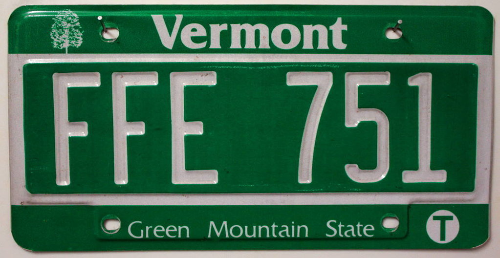 VERMONT Green Mountain State - Nummernschild # FFE751 ...