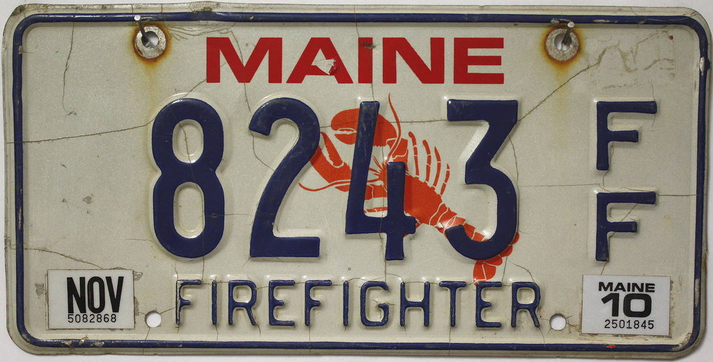 MAINE Firefighter (FF) - Nummernschild # 8243 =