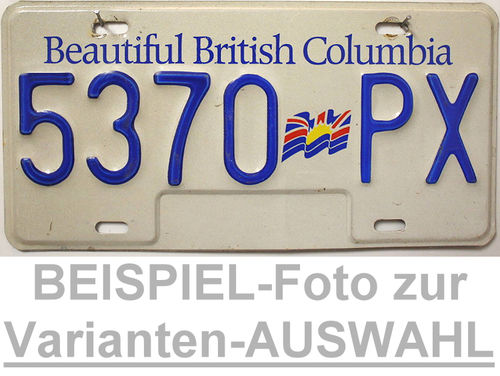Beautiful BRITISH COLUMBIA Nummernschild # Schilder Auswahl