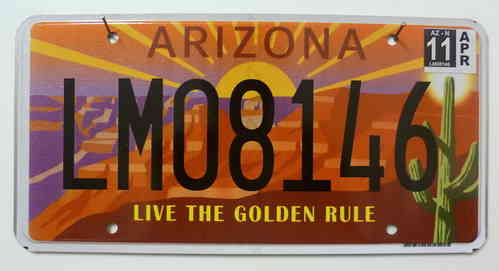 ARIZONA Golden Rule - Nummernschild ## LM08146 =