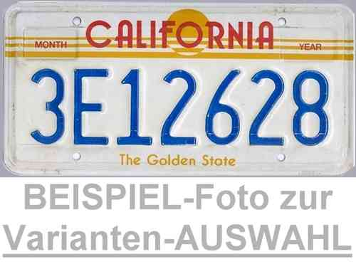 CALIFORNIA The Golden State - Nummernschild # Schilder Auswahl