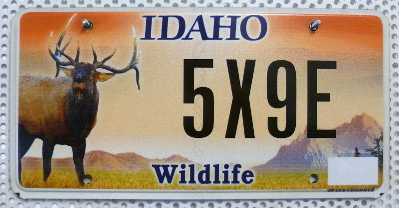 IDAHO Wildlife - Nummernschild # 5X9E ...