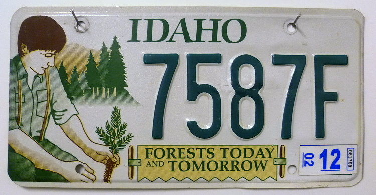 IDAHO Forests (Today / Tomorrow) - Nummernschild # 7587F =