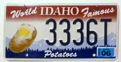 IDAHO Potatoe - Nummernschild # 3336T =