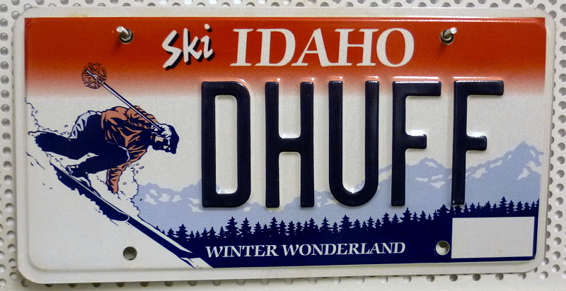 Ski IDAHO Winter Wonderland  - Nummernschild # DHUFF