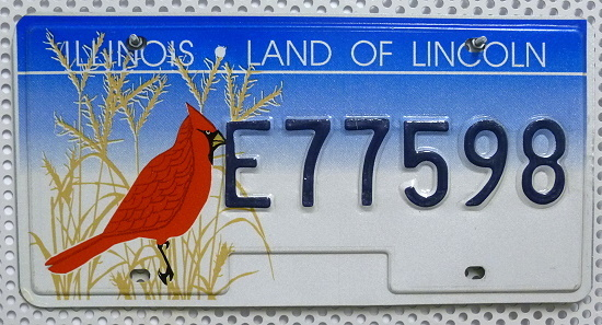 ILLINOIS Land of Lincoln - Nummernschild # E77598 ...