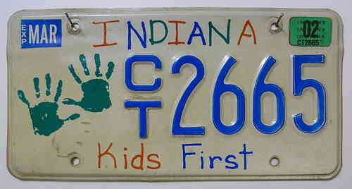 INDIANA Kids First - Nummernschild # CT2665 =