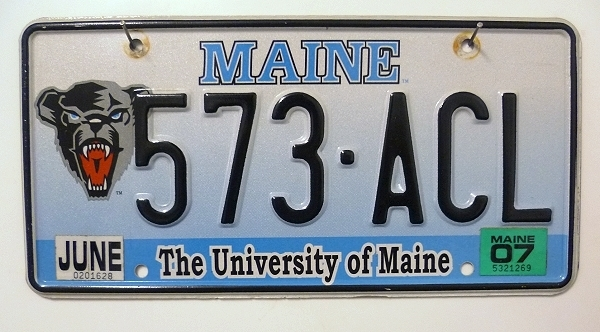 The University of MAINE - Nummernschild # 573ACL =
