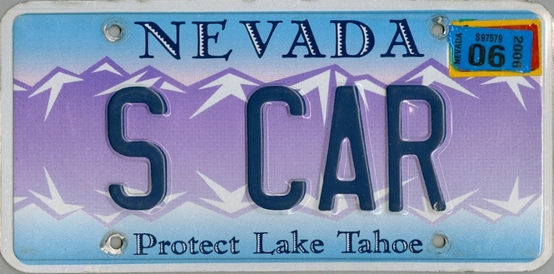 NEVADA Protect Lake Tahoe - Nummernschild # S_CAR =
