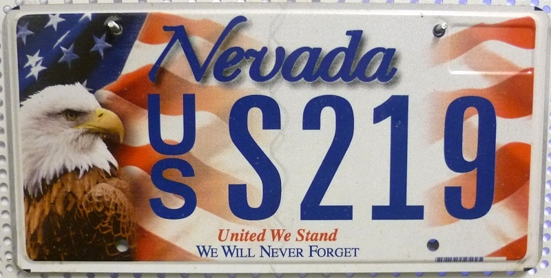 NEVADA United We Stand - Nummernschild # USS219 ...