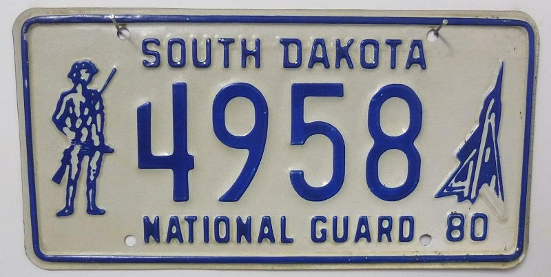 SOUTH DAKOTA National Guard - Nummernschild # 4958 ...