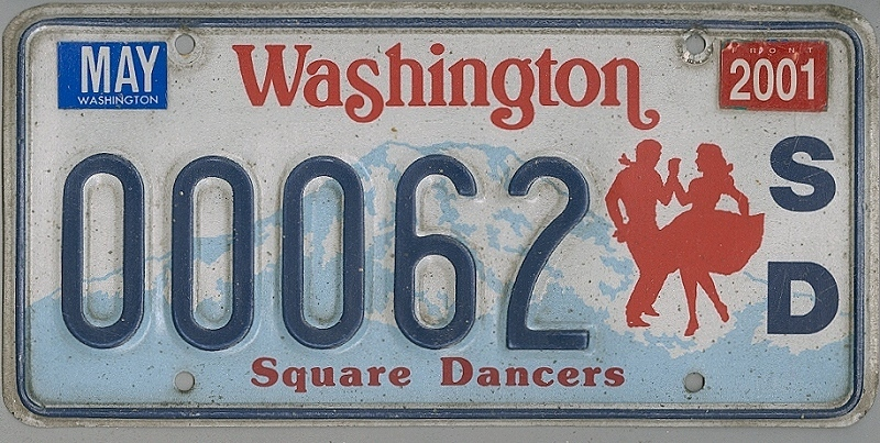 WASHINGTON Square Dancers - Nummernschild # 00062 =
