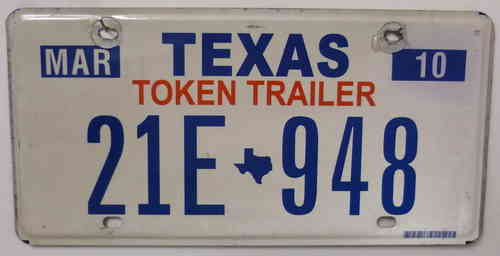 TEXAS Token Trailer - Nummernschild # 21E948