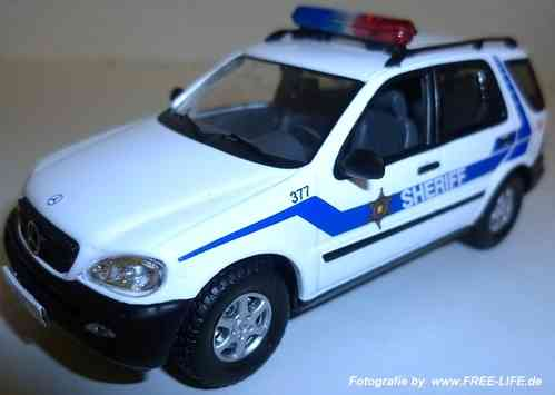 Modellauto Mercedes ML 320 Sheriff / Automodell Police Car / Polizei