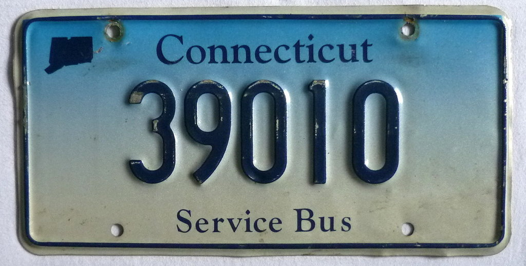 CONNECTICUT Service Bus - Nummernschild # 39010 ...