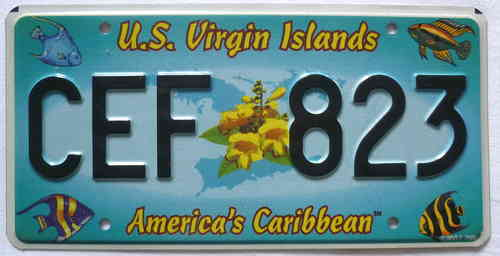 U.S. VIRGIN ISLANDS - Nummernschild # 7621K =