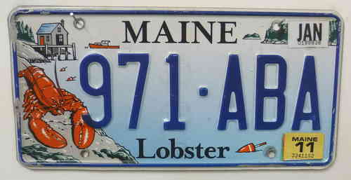 MAINE Lobster - Nummernschild # 971ABA =