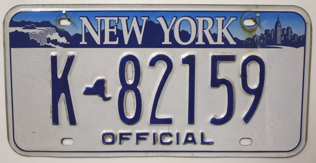 NEW YORK Official Typ - Nummernschild # K82159 ...