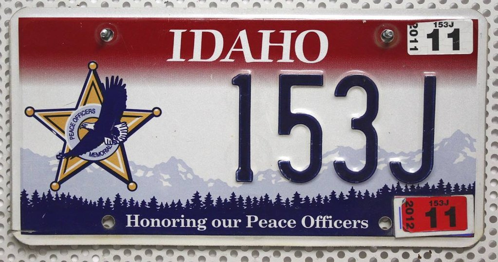 IDAHO Peace Officers - Nummernschild # 153J =