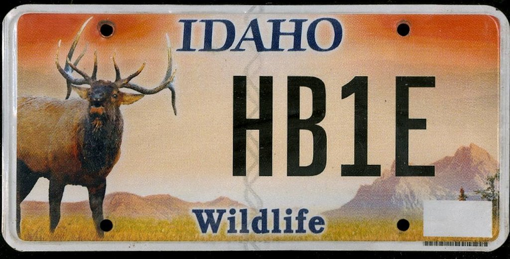 IDAHO Wildlife - Nummernschild # HB1E ...