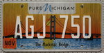 MICHIGAN The Mackinac Bridge - Nummernschild # AGJ750 =