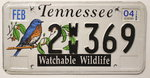 TENNESSEE Watchable Wildlife - Nummernschild # 2WW369