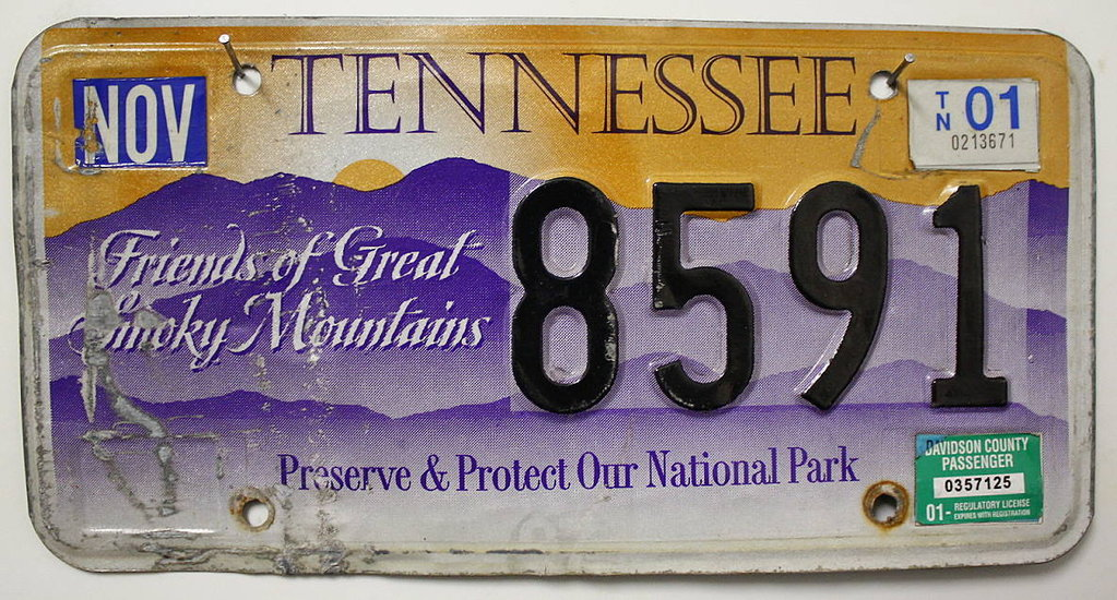 TENNESSEE Friends of Great Smoky Mountains - Nummernschild # 8591 =