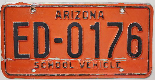 ARIZONA School Vehicle - Nummernschild # ED0176