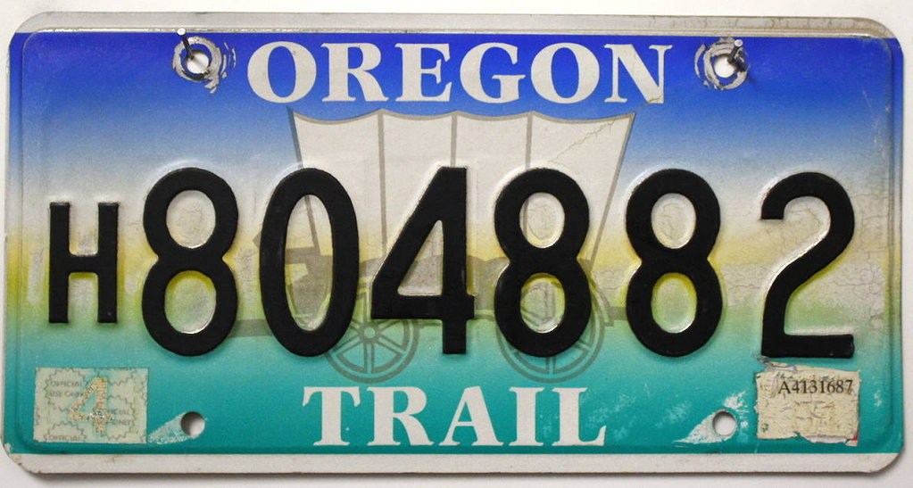 OREGON Trail - Nummernschild # H804882