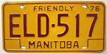 Friendly MANITOBA - Nummernschild # ELD517 ...