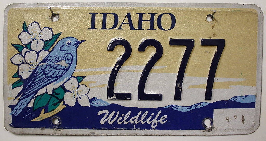 IDAHO Wildlife - Nummernschild # 2277 ...