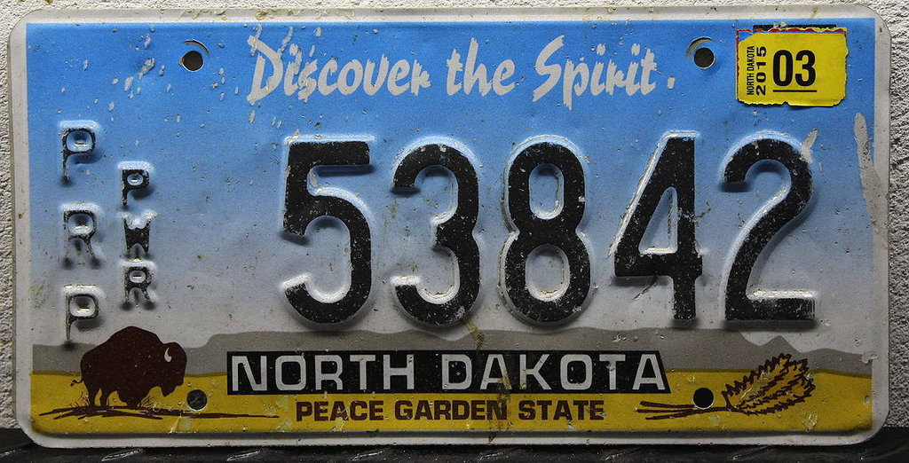 NORTH DAKOTA (PRP.PWR) - Nummernschild # 53842 =