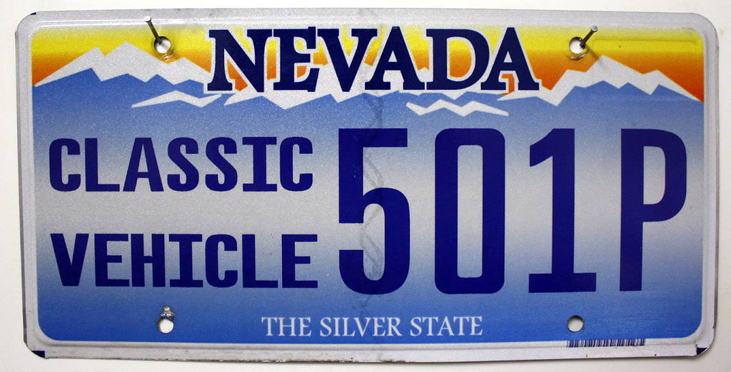 NEVADA *Classic Vehicle* - Nummernschild # 501P ...