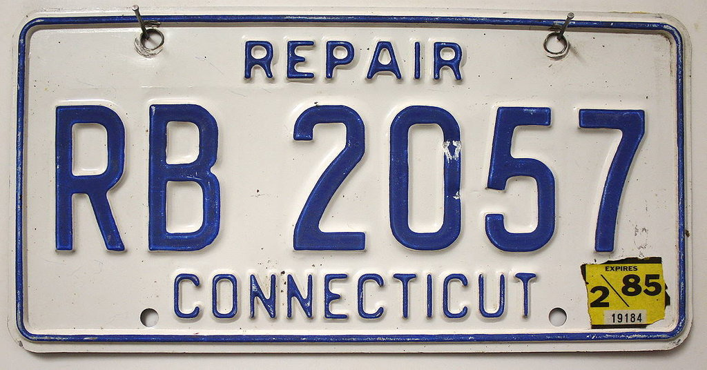 CONNECTICUT Repair - Nummernschild # RB2057 =
