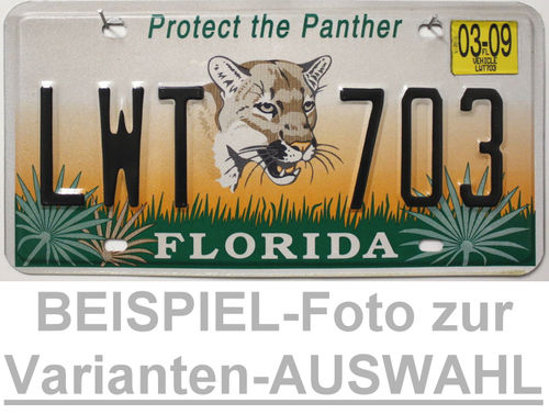 FLORIDA Protect the Panther - Nummernschild # Schilder Auswahl