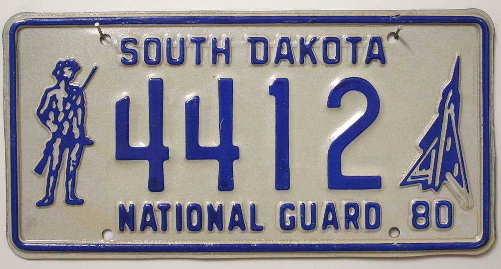 SOUTH DAKOTA National Guard - Nummernschild # 4412 ...