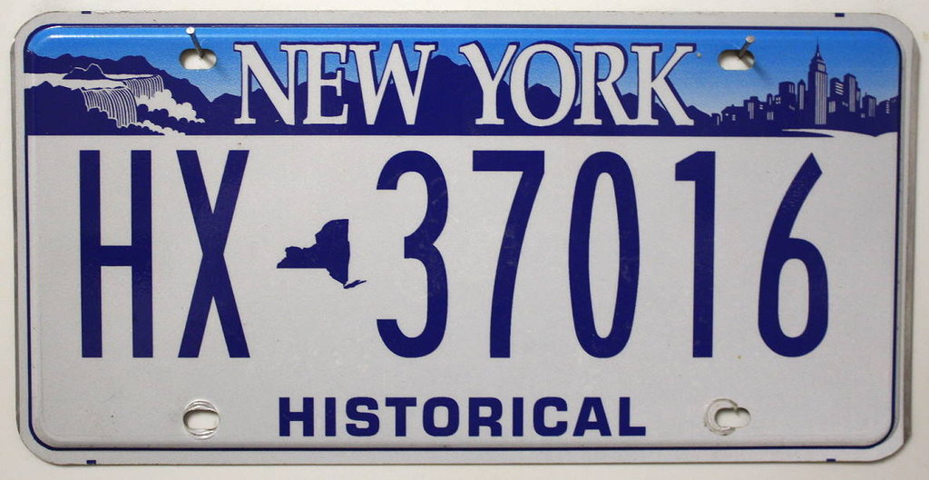 NEW YORK Historical Typ - Nummernschild # HX37016 ...