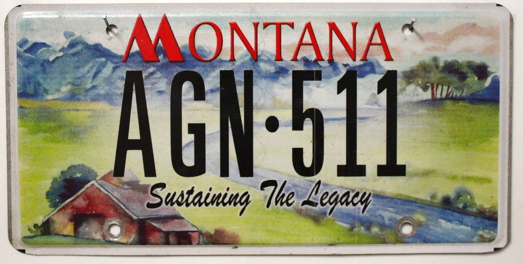MONTANA Sustaining the Legacy - Nummernschild # AGN511 ...