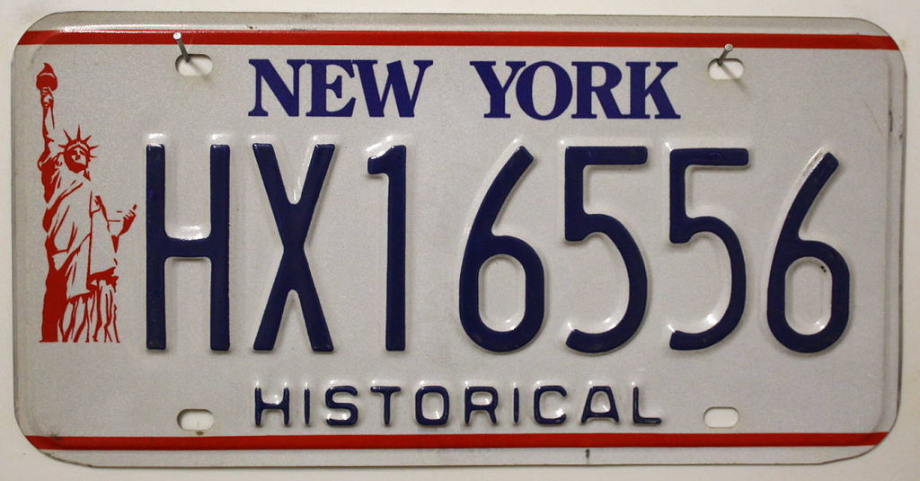 NEW YORK Historical Typ - Nummernschild # HX16556 ...