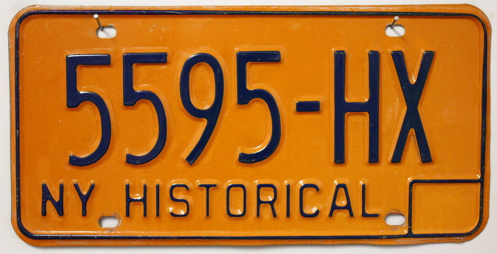 NEW YORK Historical Typ - Nummernschild # 5595-HX ...